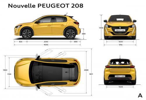 Nowy Peugeot 208 - wymiary